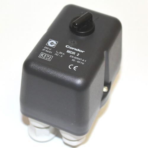 Condor Druckschalter MDR2 - 230 V - 10 bar - 16-20 A - 3/8 Zoll IG - 3 Abg. 1/4