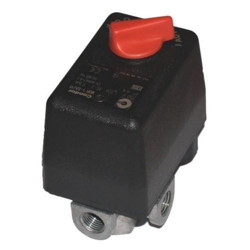 Condor Druckschalter MDR1 - 230 V - 12 bar - 3/8 Zoll IG - 3 Abg. 1/4 Zoll IG