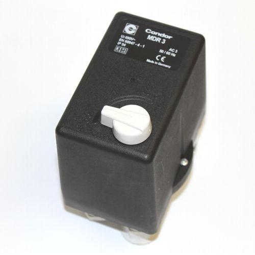 Condor Druckschalter MDR3 - 400V - 10 bar - 16-20 A - 1/4 Zoll IG -keine Abgänge